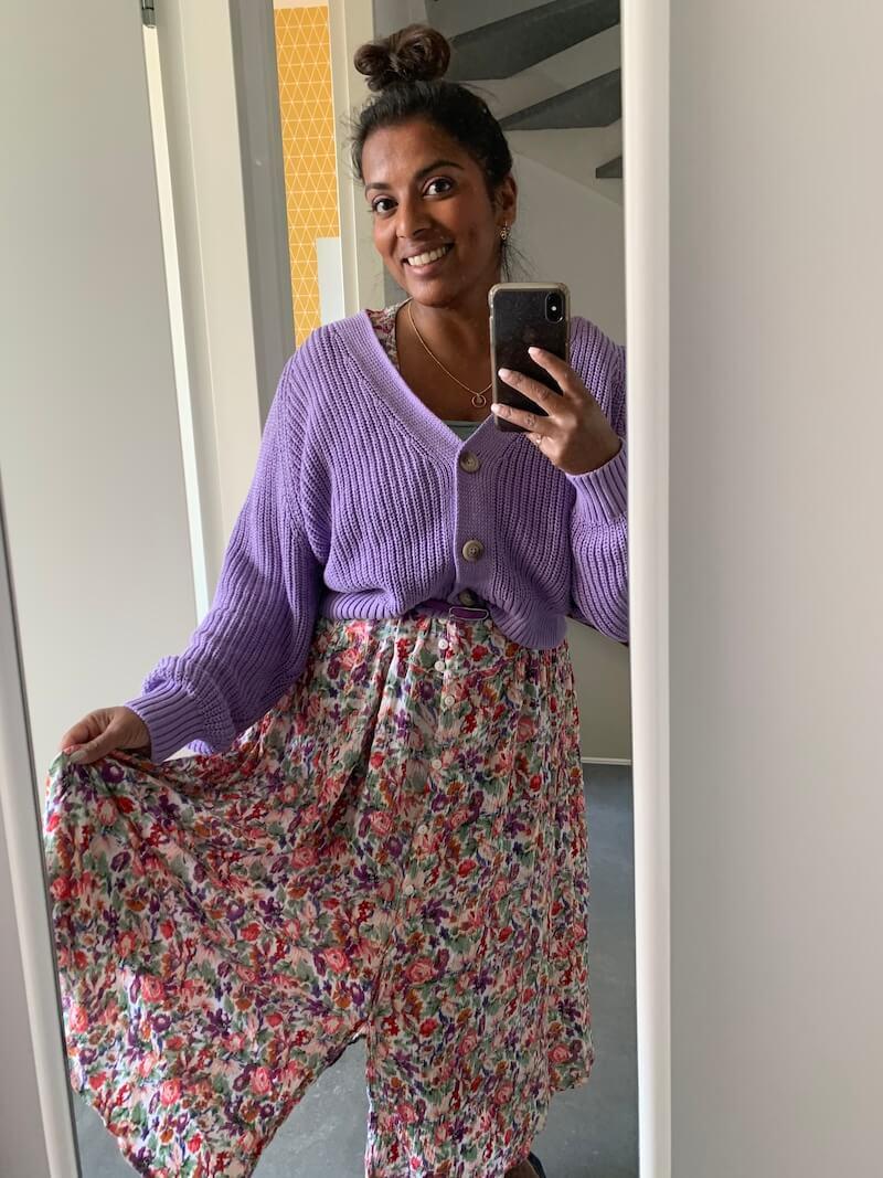 Voorbeeld zomeroutfit vintage jurk